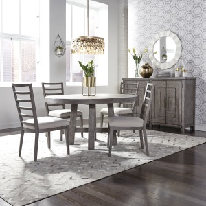 Modern Farmhouse 5 Piece Round Table Set