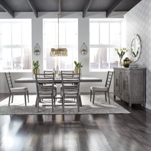 Modern Farmhouse 7 Piece Trestle Table Set