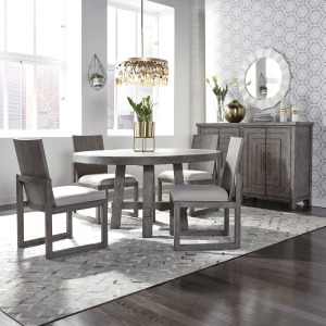 Modern Farmhouse Opt 5 Piece Round Table Set