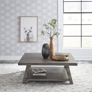 Modern Farmhouse Oversized Square Cocktail Table