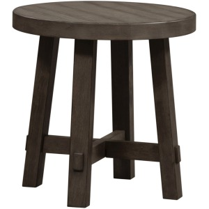 Modern Farmhouse Splay Leg Round End Table