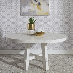 Modern Farmhouse Round Table Set