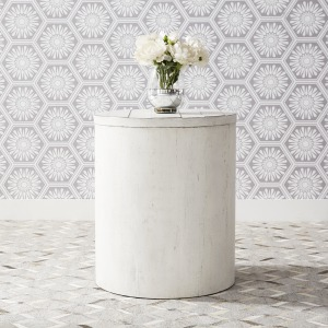 Modern Farmhouse Drum End Table