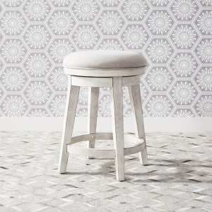 Modern Farmhouse Console Swivel Stool