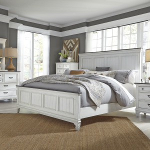 Allyson Park King California Panel Bed, Dresser & Mirror, Chest