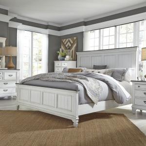 Allyson Park Queen Panel Bed, Dresser & Mirror, Chest