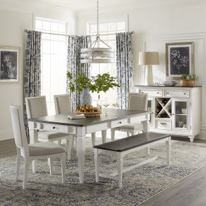 Allyson Park Alternate 6 Piece Rectangular Table Set