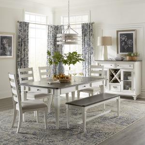 Allyson Park Optional 6 Piece Rectangular Table Set