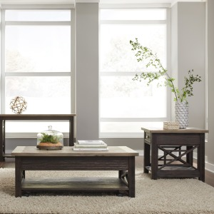 Heatherbrook Opt 3 Piece Set (1-Cocktail 2-End Tables)