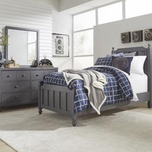 Cottage View Twin Panel Bed, Dresser & Mirror