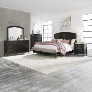 Essex Opt Queen Panel Bed, Dresser & Mirror, Chest, Nightstand