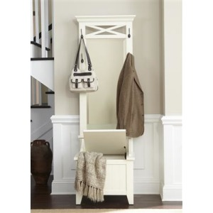 Hall Tree Base and Mirror (2 Piece Set)