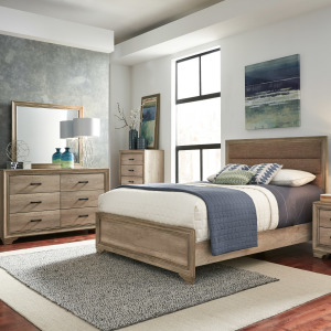 Sun Valley King California Uphosltered Bed, Dresser & Mirror, Chest