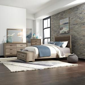 Sun Valley King Storage Bed, Dresser & Mirror, Chest