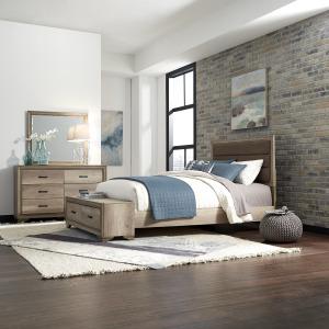 Sun Valley Queen Storage Bed, Dresser & Mirror