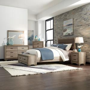 Sun Valley Queen Storage Bed, Dresser & Mirror, Chest, Night Stand