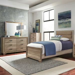 Sun Valley Twin Uph Bed, Dresser & Mirror