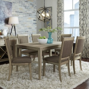 Sun Valley Opt 7 Piece Rectangular Table Set