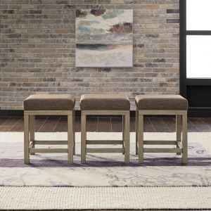 Sun Valley Uph Console Stools (3 Piece Set)