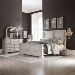 Abbey Road King California Sleigh Bed, Dresser & Mirror
