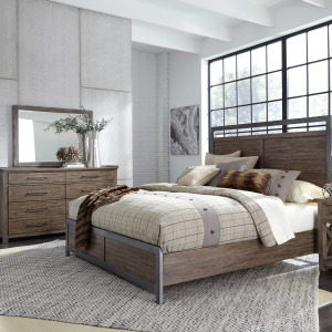 Sonoma Road King Panel Bed, Dresser & Mirror