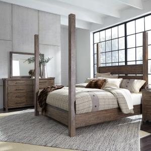 Sonoma Road King Poster Bed, Dresser & Mirror