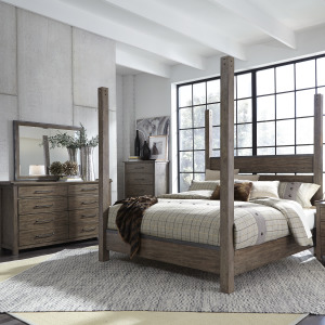Sonoma Road King Poster Bed, Dresser & Mirror, Chest