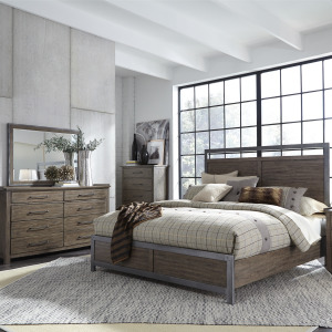 Sonoma Road Queen Panel Bed, Dresser & Mirror, Chest