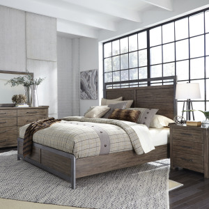 Sonoma Road Queen Panel Bed, Dresser & Mirror, Night Stand