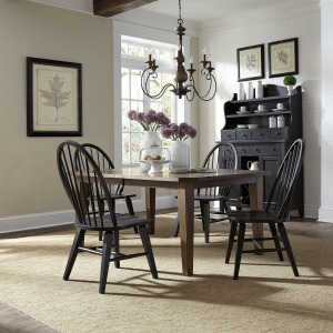Hearthstone Ridge 5 Piece Rectangular Table Set