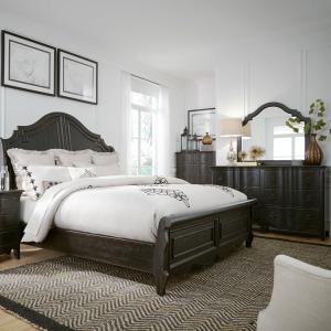Chesapeake Queen Sleigh Bed, Dresser & Mirror, Chest
