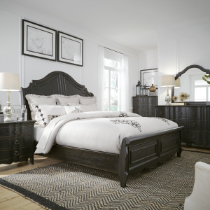 Chesapeake Queen Sleigh Bed, Dresser & Mirror, Night Stand