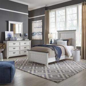 Allyson Park Full Panel Bed, Dresser & Mirror