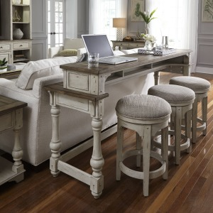 Morgan Creek 4 Piece Console Set (1-Console 3-Stools)