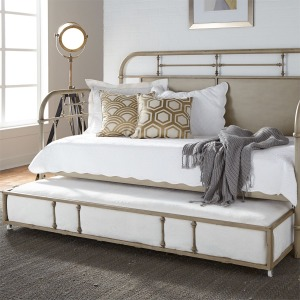 Twin Metal Trundle - Vintage Cream