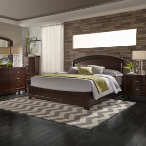 Avalon King Panel Bed, Dresser & Mirror, Chest, Night Stand