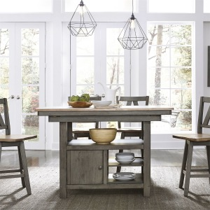 Lindsey Farm 5 Piece Gathering Table Set