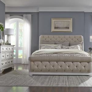 Abbey Park King California Sleigh Bed, Dresser & Mirror
