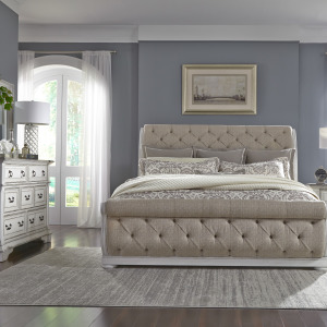 Abbey Park King Uph Sleigh Bed, Dresser & Mirror