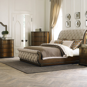 Cotswold King Sleigh Bed, Dresser & Mirror, Chest, Night Stand