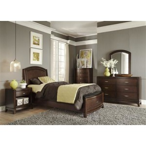 Avalon Youth Twin Panel Bed, Dresser & Mirror