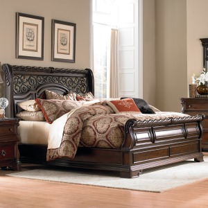 Arbor Place King California Sleigh Bed