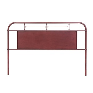 Vintage Series King Metal Headboard - Red