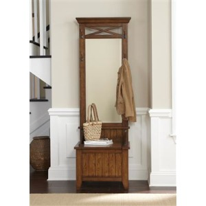 Hall Tree Mirror and Base