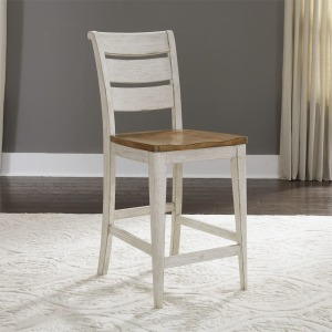 Farmhouse Reimagined Ladder Back Counter Chair (RTA)