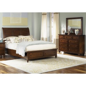 Hamilton King Storage Bed, Dresser & Mirror