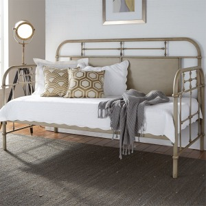 Vintage Series Twin Metal Day Bed - Vintage Cream