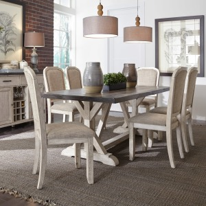 Willowrun 7 Piece Trestle Table Set