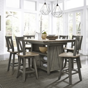 Lindsey Farm 7 Piece Gathering Table Set
