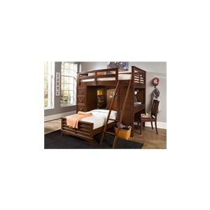 Chelsea Square Youth Twin Loft Bed with Cork Bed